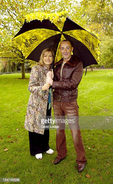 Penny Smith and Scott Henshall during Marie Curie Cancer Care Field of Hope Photocall at St James's Park in London Great Britain