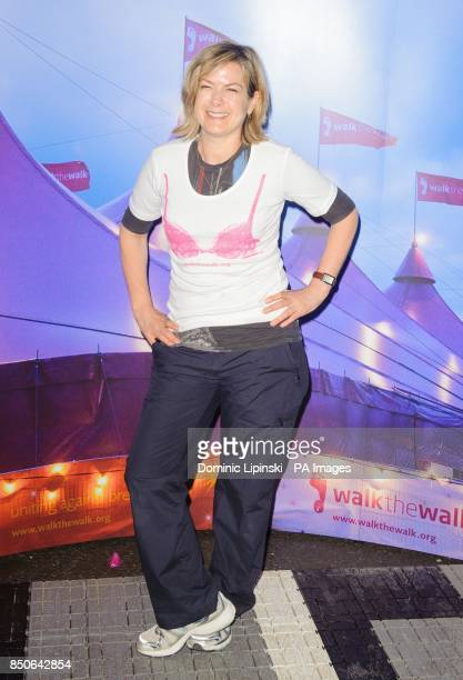 Penny Smith at the start of the Moonwalk London at Battersea Power Station London