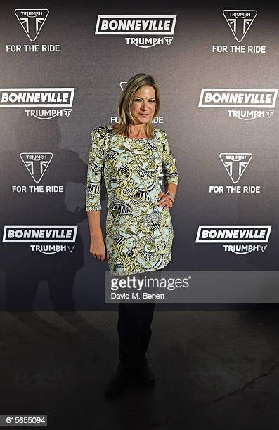 Penny Smith attends the Global VIP Reveal of the new Triumph Bonneville Bobber on October 19 2016 in London England