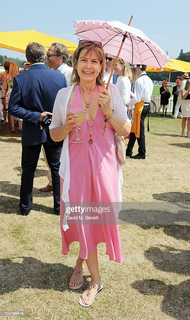Penny Smith attends the Veuve Clicquot Gold Cup Final at Cowdray Park Polo Club on July 21, 2013 in Midhurst, England.