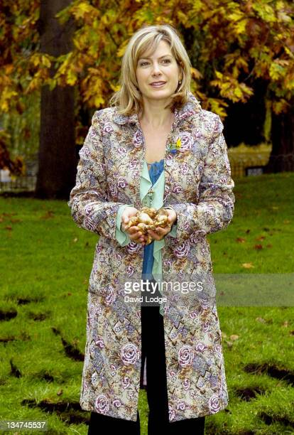 Penny Smith during Marie Curie Cancer Care Field of Hope Photocall at St James's Park in London Great Britain