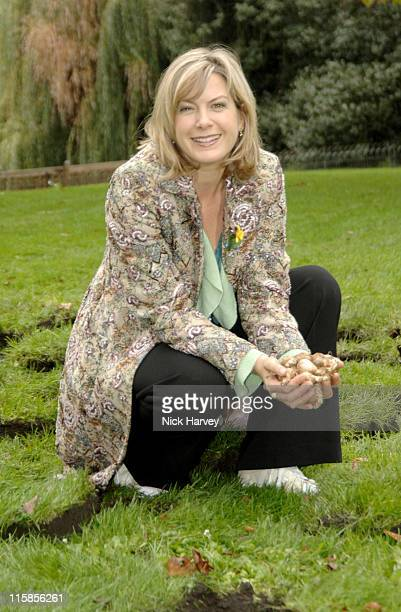 Penny Smith during 'Marie Curie Cancer Care Field of Hope' Supported by Designer Scott Henshall at St James Park in London Great Britain