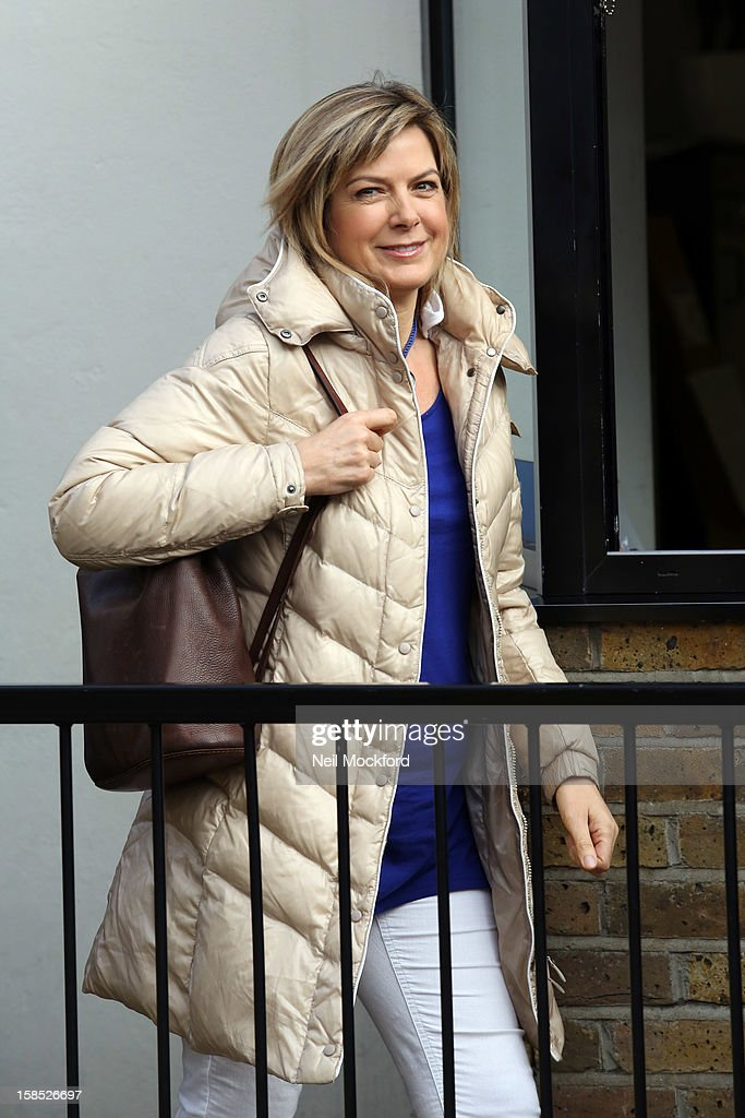 Penny Smith seen at the ITV Studios on December 18, 2012 in London, England.