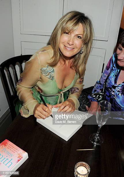 Penny Smith signs copies of her new book 'Summer Holiday' at a book launch party at Century on June 9 2011 in London England