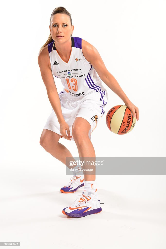 Penny Taylor #13 of the Phoenix Mercury poses for a photo during the Phoenix Mercury Media Day on May 13, 2014 at US Airways Center in Phoenix, Arizona.