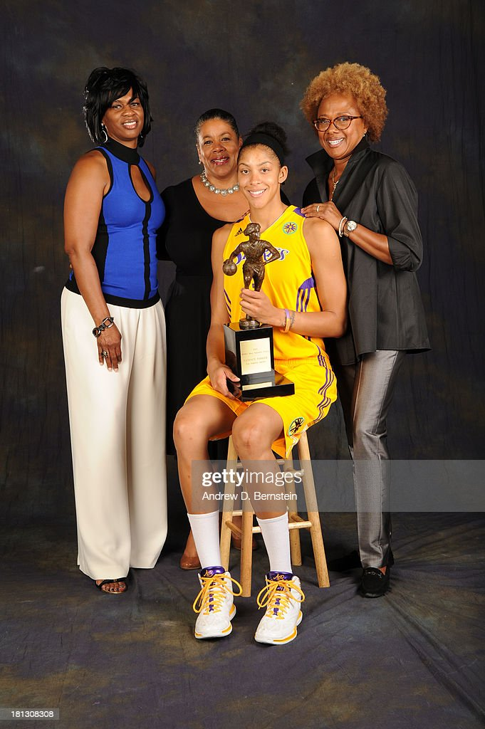 Penny Toler Executive Assistant for the Los Angeles Sparks, Laurel Richie the WNBA Commissioner, Candace Parker #3 of the Los Angeles Sparks and Paula Madison owner of the Los Angeles Sparks poses for a picture after Candace Parker was awarded the WNBA's Most Valuable Player for the 2013 season at STAPLES Center on September 19, 2013 in Los Angeles, California.
