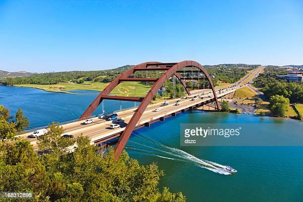 Pennybacker 360 bridge et de la rivière Colorado, à proximité d'Austin, au Texas