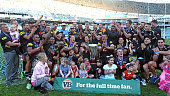 Penrith celebrate their teams win at the VB NSW Cup Grand Final match between Newcastle and Penrith at Allianz Stadium on September 28 2014 in Sydney...