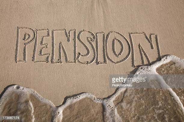Pension Washout finanziellen Krise in den Sand