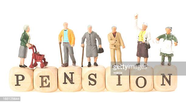 pension word with pensioner