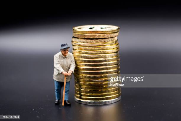 A pensioner miniature figures near Bitcoin physical coin Futures on Bitcoins increased by more than 20% after their American debut on the Chicago...