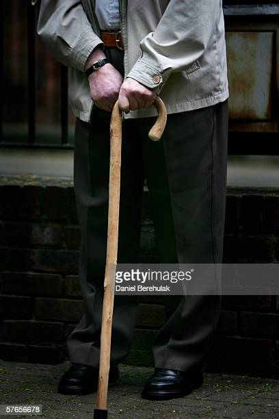 A pensioner waits outside of a day care centre in central London for a care bus to take him home on May 19 2006 in London England A deal on pensions...