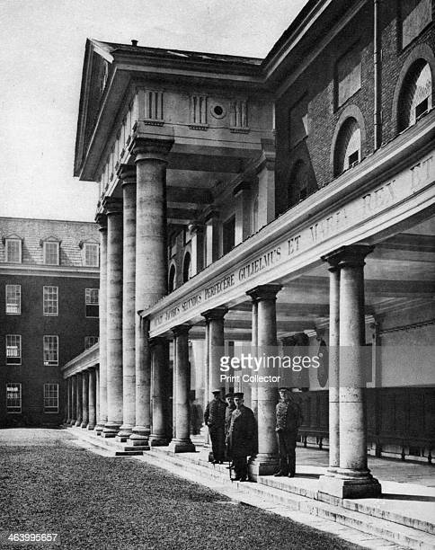 Pensioners in the great quadrangle of Chelsea Royal Hospital London 19261927 From Wonderful London volume II edited by Arthur St John Adcock...