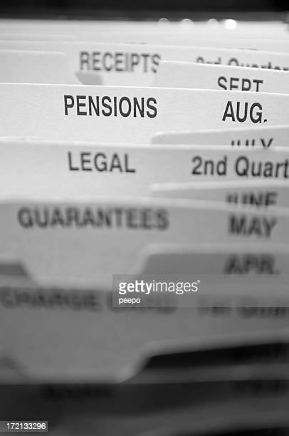 pensions file dividers
