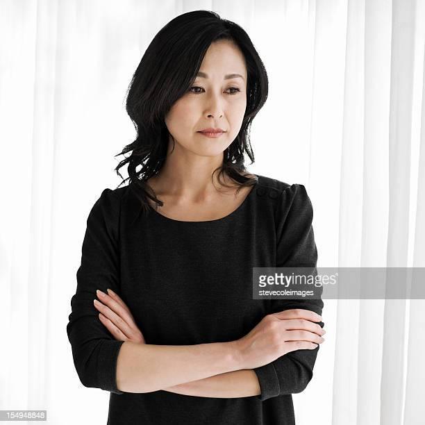 哀愁アジアの女性