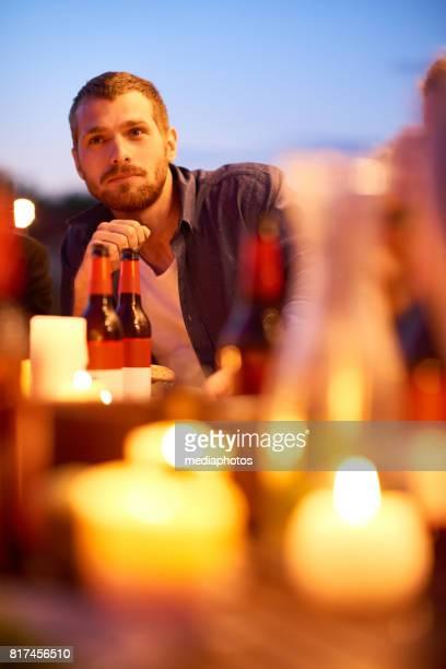 Pensive bearded guy