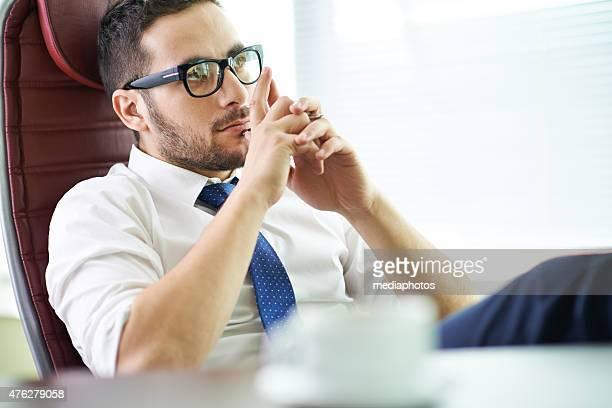 Pensive CEO