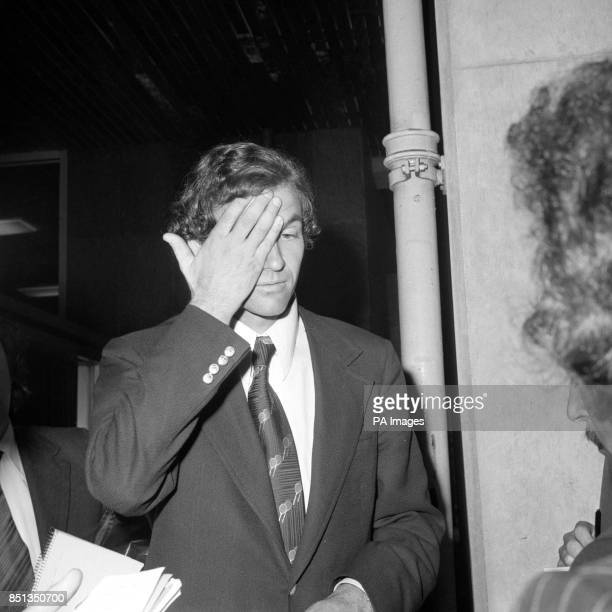 A pensive Cliff Drysdale of the Association of Tennis Professionals at the ministry of the Environment in Marsham Street where he and ATP member Jack...