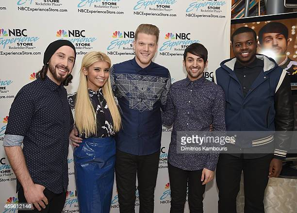 Pentatonix visits The NBC Experience Stor eat NBC Experience Store on November 26 2014 in New York City
