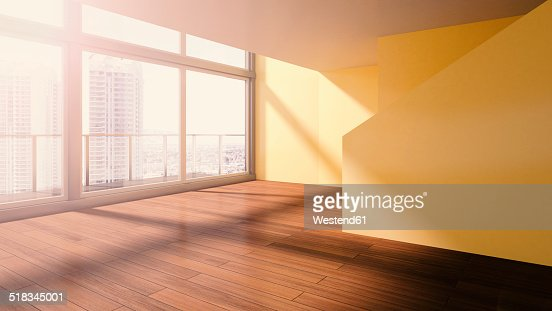 Penthouse, interior view, 3D rendering