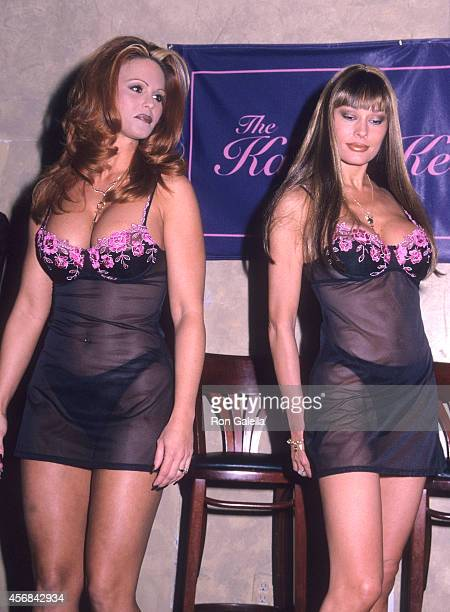 Penthouse Pet Gina LaMarca and Penthouse Pet Leslie Glass attend 'Penthouse Pets Bare Their Breasts to Fight Breast Cancer' Benefit for the Kathy...