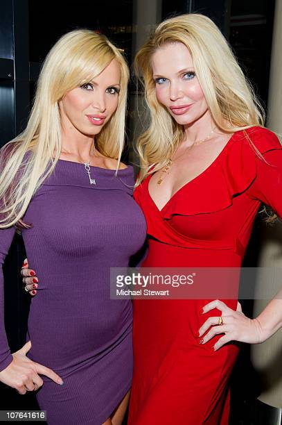 Penthouse Pet of the year 2010 Nikki Benz and Penthouse Pet of the year 2004 Dr Victoria Zdrok attend Nikki Benz's birthday party at Sky Room on...