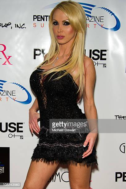 Penthouse Pet of the Year 2011 Nikki Benz attends the Penthouse Super Party at American Airlines Center on February 4 2011 in Dallas Texas