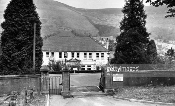 Pentwyn Hospital overlooking Ton Pentre in the Rhonnda 29th April 1974