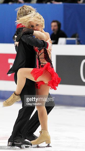 Peny Coomes and Nicholas Buckland of Great Britain skate in the ice dance short dance during day six of the 2011 World Figure Skating Championships...