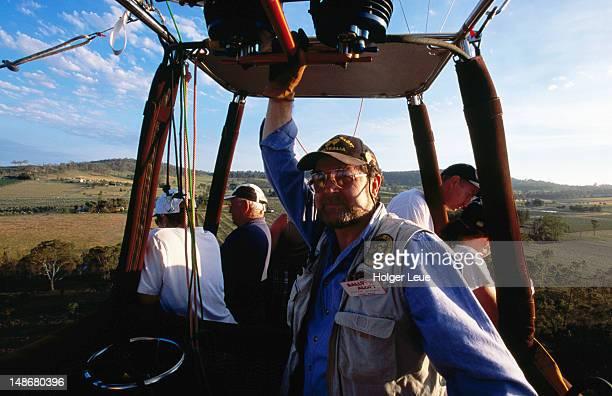 People aboard Balloon Aloft hot-air balloon.