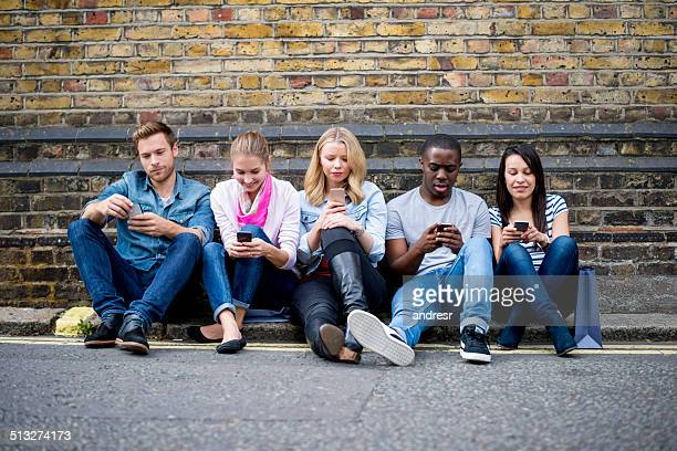 People alienated on their phones