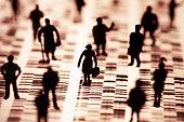 Eine Gruppe Menschen auf einem  DNA Profil