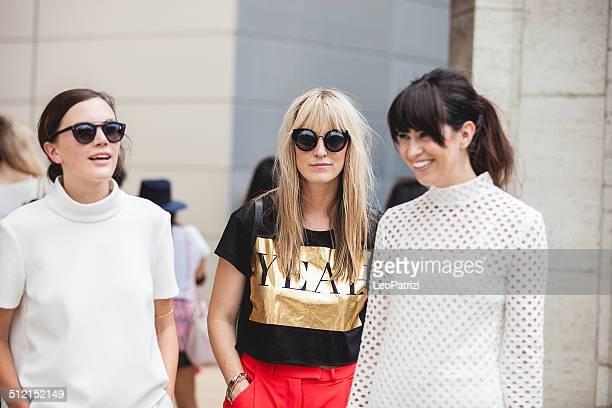 Persone e i modelli a New York Fashion Week 2014
