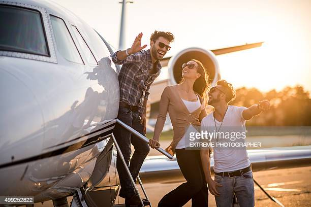 People and private jet