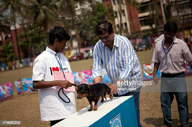 People and their dogs compete in the Bangladesh Kennel Club All Breed Dog Show on March 14 2014 in Dhaka Bangladesh The dog show is in it's 5th year...