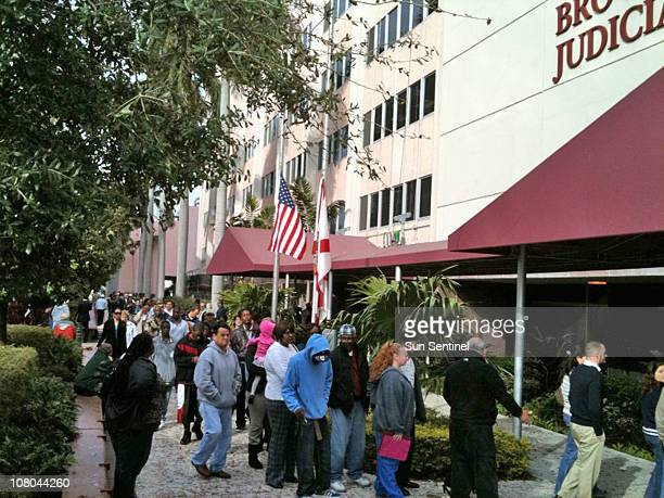 People are allowed to return to the Broward County Courthouse on Friday January 14 following an incident during which a man with a gun entered the...