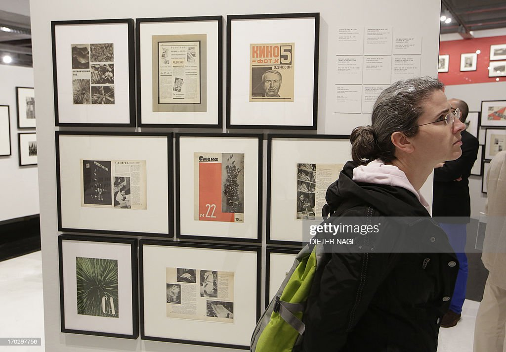People are seen at the opening of an exhibition of Russian photographer Alexander Rodchenko named «the photographic revolution» at Westlicht Gallery on June 10, 2013 in Vienna AFP PHOTO/DIETER NAGL