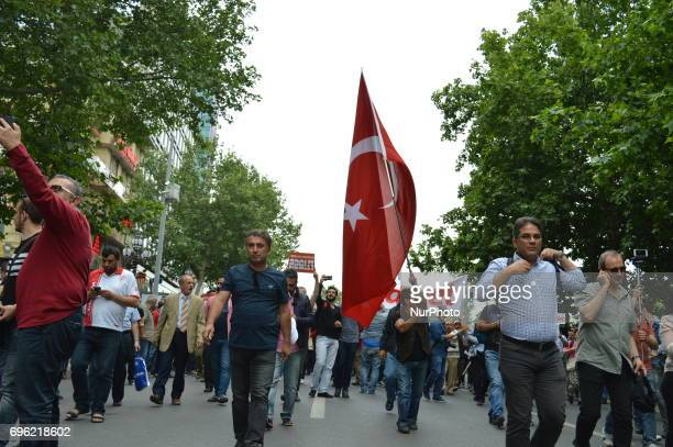 People are seen during the 'Justice March' to protest against the Turkish government held by the main opposition Republican People's Party in Ankara...