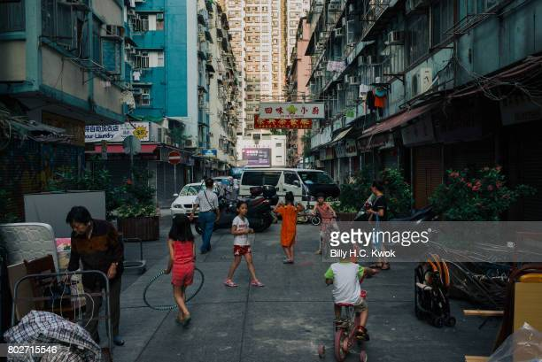 People are seen in the Hung Hom region on May 30 2017 in Hong Kong Hong Kong Hong Kong is marking 20 years since the territory was handed from...