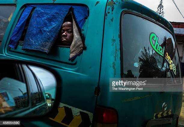 People are traveling more by buses and taxis on Monday November 3 2014 in Monrovia Liberia People are more relaxed as conditions improve and the...