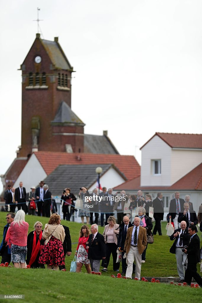 People arrive ahead of the Commemoration of the Centenary of the Battle of the Somme at the Thiepval Museum ahead of the 100th anniversary of the beginning of the Battle of the Somme at the Thiepval memorial to the Missing on July 1, 2016 in Thiepval, France. The event is part of the Commemoration of the Centenary of the Battle of the Somme at the Commonwealth War Graves Commission Thiepval Memorial in Thiepval, France, where 70,000 British and Commonwealth soldiers with no known grave are commemorated.