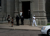 People arrive at the funeral of Philando Castile at the Cathedral of St Paul on July 14 2016 in St Paul Minnesota Castile was shot and killed on July...