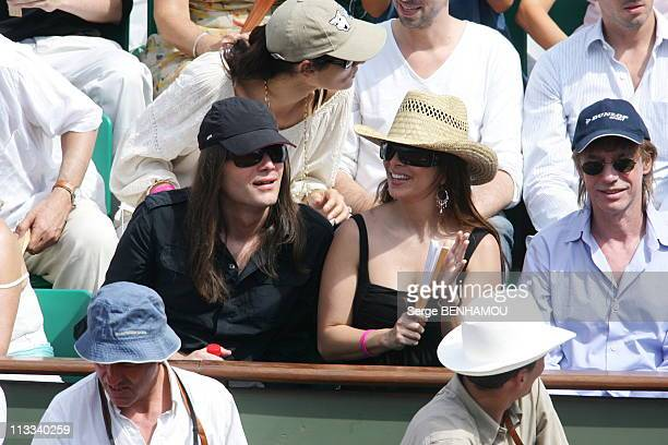 People At 2006 Roland Garros Tennis Tournament On June 11Th 2006 In Paris France Here Helene Segara And Her Husband
