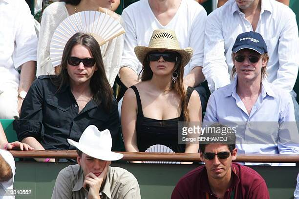 People At 2006 Roland Garros Tennis Tournament On June 11Th 2006 In Paris France Here Helene Segara And Her Husband And JeanLouis Aubert