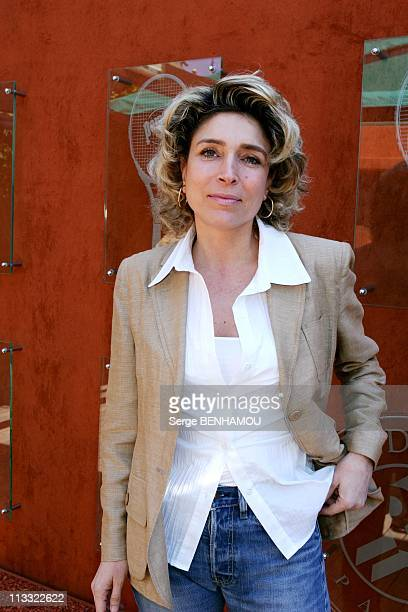 People At 2006 Roland Garros Tennis Tournament On June 2Nd 2006 In Paris France Here MarieAnge Nardi