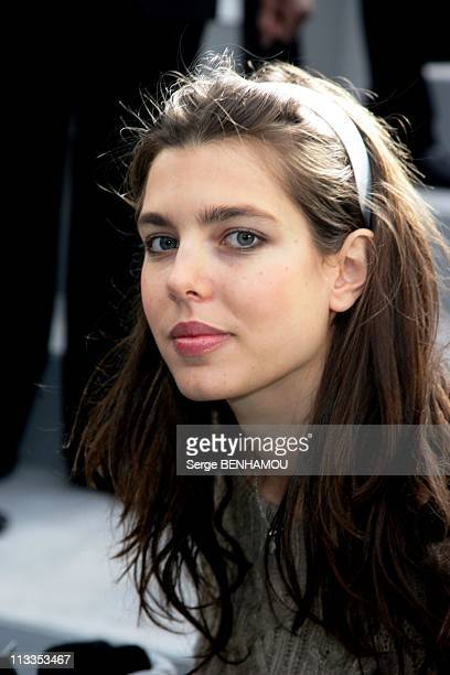 People At Chanel SpringSummer 2007 Haute Couture Fashion Show In Paris France On January 23 2007 Charlotte Casiraghi