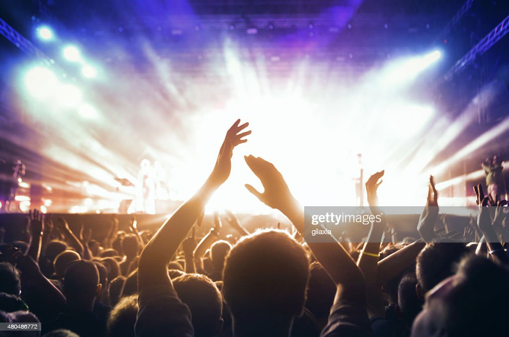 People at concert party. : Stock Photo