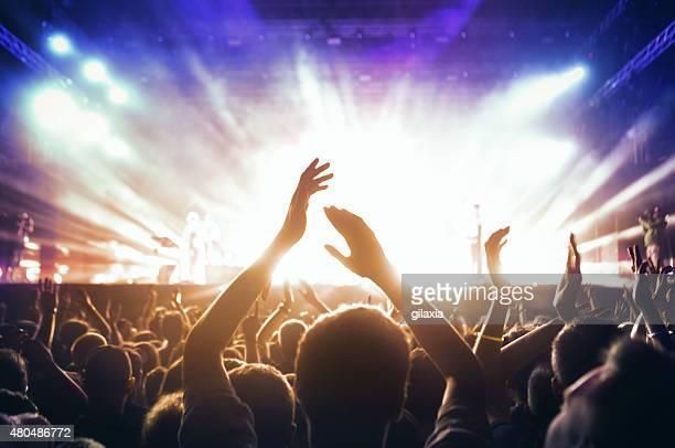 Menschen beim Konzert-party.