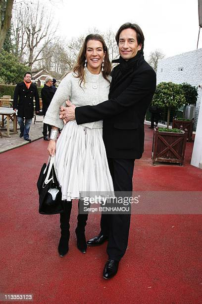 People At Dior SpringSummer 2007 Haute Couture Fashion Show In Paris France On January 22 2007 Fiona Swarovski and her friend Austrian Finance...