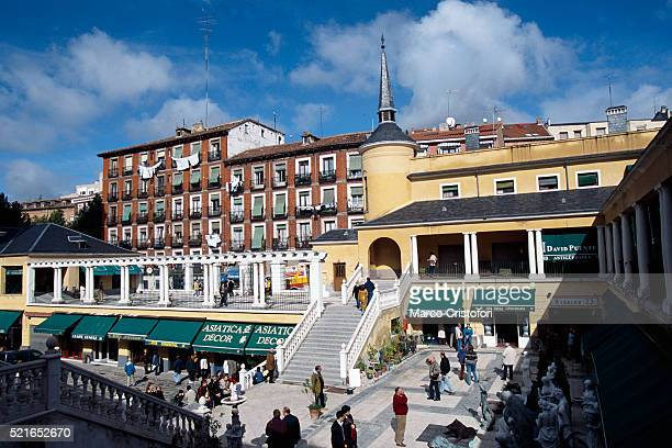 People at Flea Market in Madrid